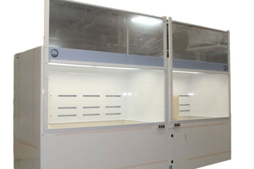 Semiconductor-Wafer-Chemical-Processing-Wet-Bench-&-Fume-Hood---Sliding-Door-Open---Up