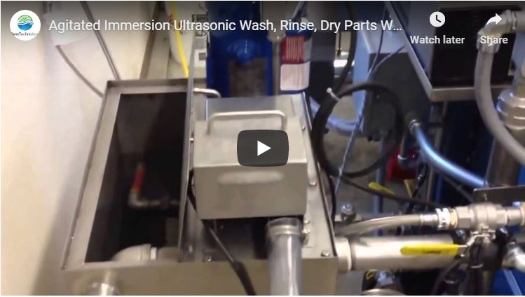 Agitated Immersion Ultrasonic Wash, Rinse, Dry Parts Washer with Oil Removal System