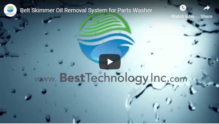 Belt Skimmer Oil Removal System for Parts Washer