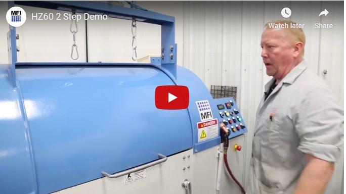 Centrifugal Barrel Finishing Machine - 2 Step Demo
