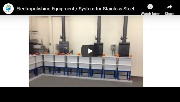 Electropolishing Equipment / System for Stainless Steel