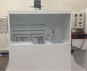 Enclosed Vented Fume Hood Electropolishing Wet Bench