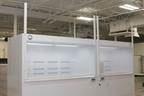 Semiconductor-Wafer-Chemical-Processing-Wet-Bench-&-Fume-Hood---Sliding-Doors-Closed---Down