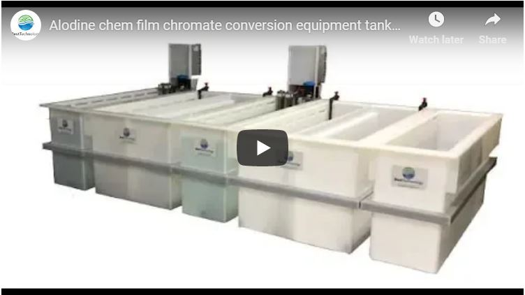 Alodine chem film chromate conversion equipment tank line