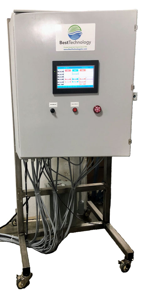 Alodine system - Electrical panel with PLC / HMI touchscreen