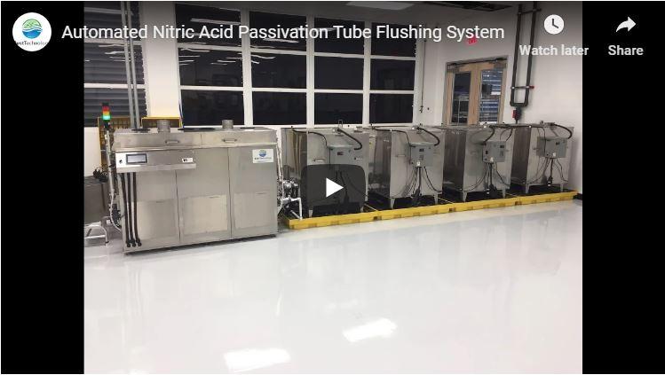 Automated Nitric Acid Passivation Tube Flushing System