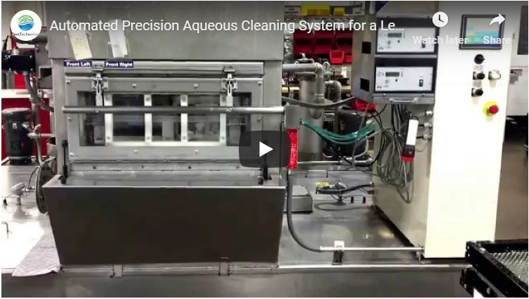 Automated Precision Aqueous Cleaning System for Lean Cellular Manufacturing