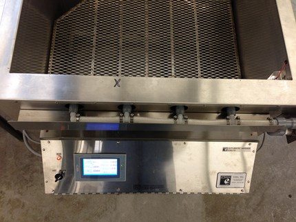 Automated Ultrasonic Parts Washer Mold Cleaning System - Top View
