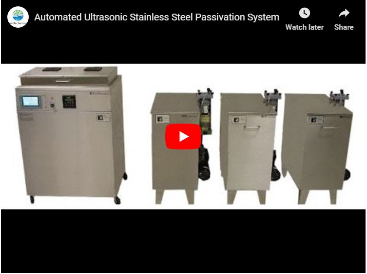 Automated Ultrasonic Stainless Steel Passivation System