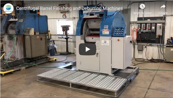 Centrifugal barrel finishing and deburring machines