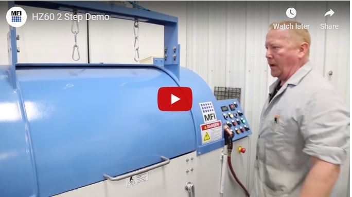 Centrifugal Barrel Finishing Machine - 2 Step Demo