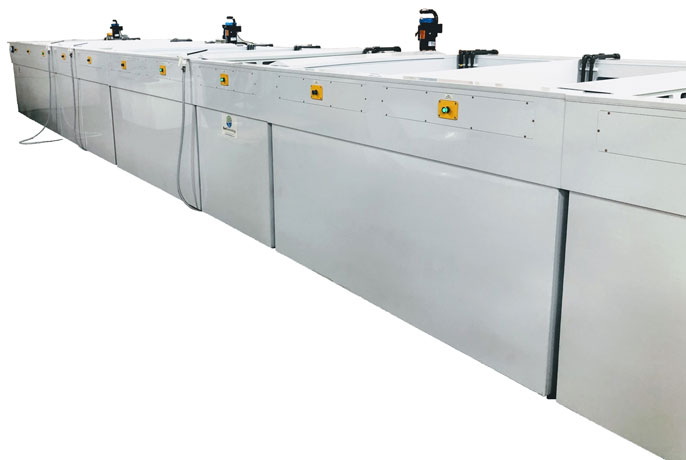 Chromate conversion equipment for alodining