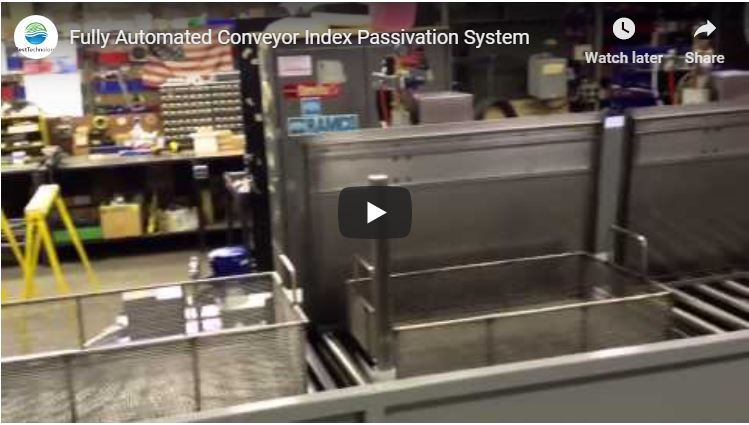 Fully Automated Conveyor Index Passivation System