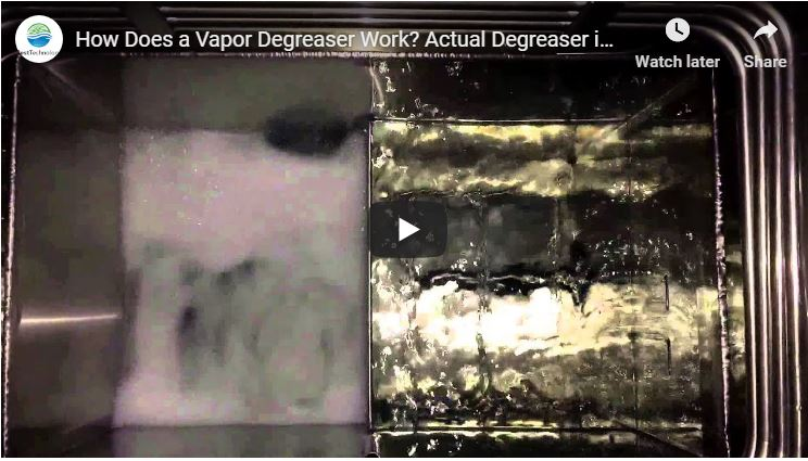 How Does a Vapor Degreaser Work? Actual Degreaser in Operation
