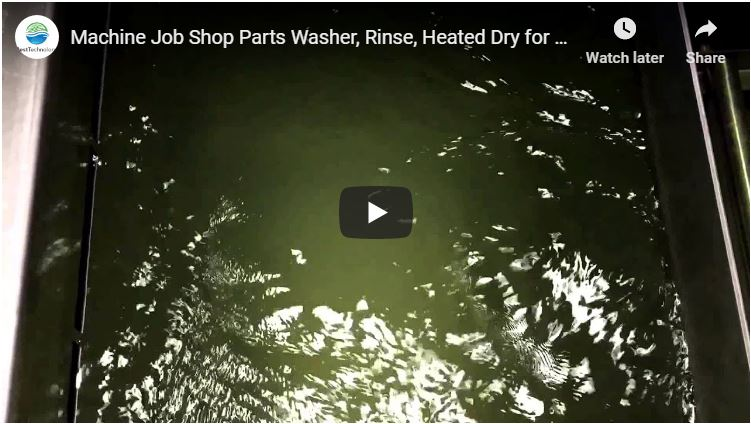 Machine Job Shop Parts Washer, Rinse, Heated Dry for Coolants, Chips and Oils