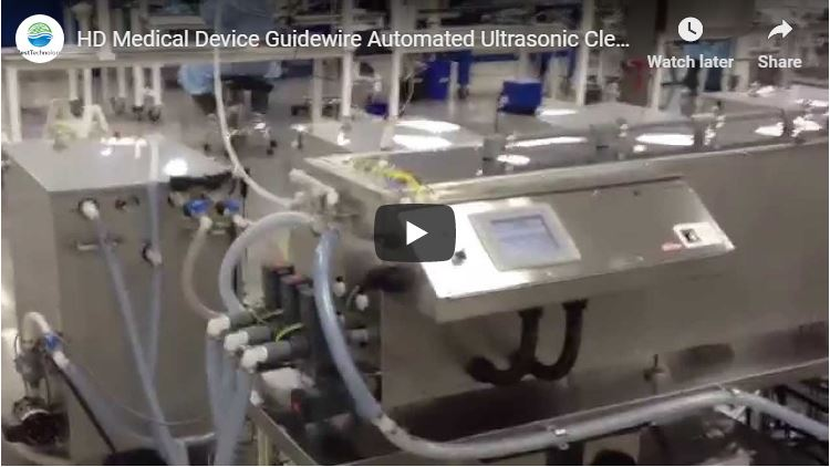 Medical Device Guidewire Automated Ultrasonic Cleaning and Passivation System